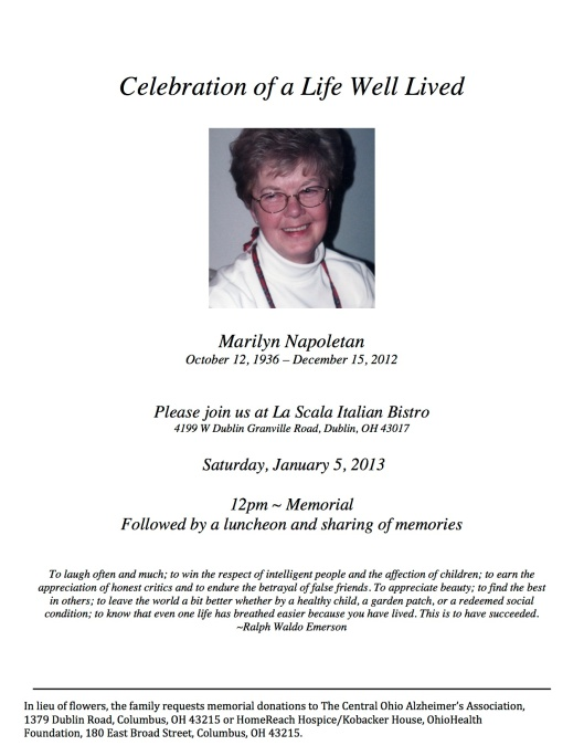 Celebration of Life Announcement